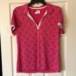 IZOD Womens Golf Shirt Large Pink
